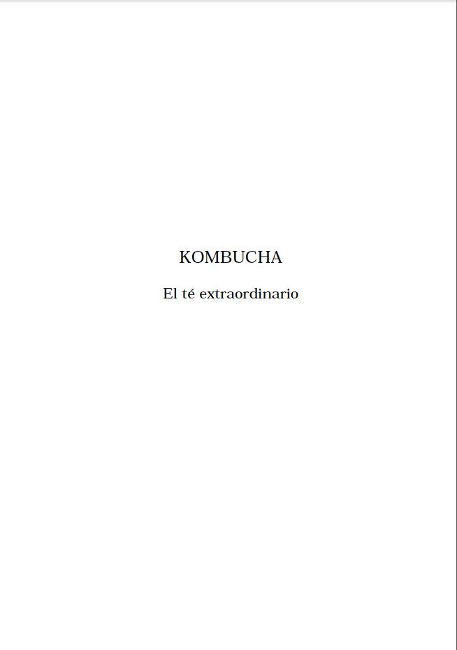 Kombucha como utilizarlo